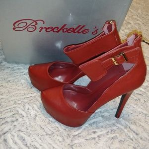 Breckelle's red leather heels